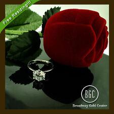 White Gold VVS2 14k 2.00 - 4.99 Diamond Engagement Rings