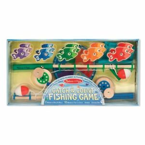 Melissa & Doug - Catch & Count Magnetic Fishing Rod Set -NEW