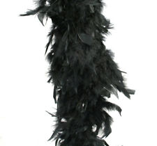 Black Feather Boa (6', 60 grams)