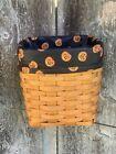 Custom Halloween Boo Pumpkins LINER for Longaberger Tall Tissue Basket
