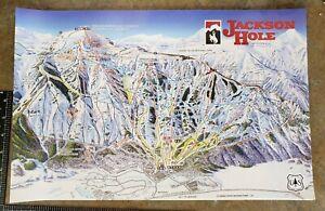 "2019/20 JACKSON HOLE WYOMING SKI RESORT 11""x17"" TRAIL MAP POSTER"