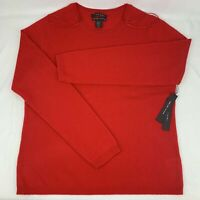 Tahari Pure Luxe Women's XLarge XL 100% Cashmere Sweater Red NEW w/ Tags Nice