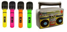 Inflatable Boom Box Music Player & Microphone Fancy Dress Photo Props