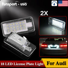 2x Error Free 18-SMD White LED License Plate Light for AUDI Q7 A3 A4 A6 A8