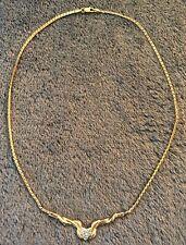 14k Yellow Gold Diamond Collar Necklace