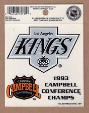 Los Angeles Kings 1993 Campbell Conference Champions DECAL Static Cling NHL RARE