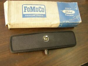 NOS OEM Ford 1967 Fairlane Mustang Cougar Stud Mount Rear View Mirror Blk Comet
