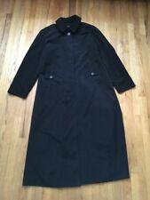 London Fog Women's Size 10 Black Trench Coat Long Winter Jacket