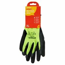 Amtech Hi-Vis Latex Coated Gloves XL Size 10