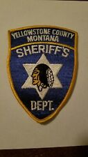 Yellowstone County Montana Sheriff's Department Police Patch - New