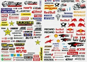 Sponsors Logos - Stickers, 2 Sheets per Set for 1:10 RC car, truck or crawler