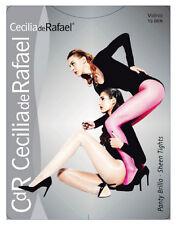 Cecilia de Rafael VIDRIO Sheen Tights Sheer to Waist Lycra Glossy Pantyhose