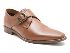 Red Tape Sutton Tan Leather Mens Monk Shoes RRP £65 !