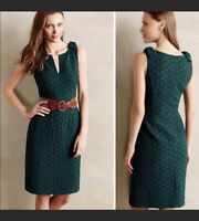 ANTHROPOLOGIE TABITHA Basket Weave Quilted Tema Dress - SIZE 2 Xs
