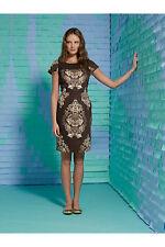 NWT RARE Anthropologie $358 NEEDLELACE SHEATH Sz 12 Polished Cotton Dress