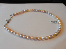 Gorgeous Freshwater Pearl Sterling Silver Necklace lovely coloured pearls.