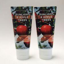 2 Bath & Body Works Sunlight & Apple Trees Nourishing Hand Cream 2 oz 59 ml New
