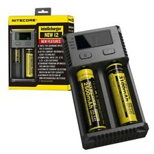 Nitecore NEW I2 - UK Model - Intelligent 18650 26650 18350 Vape Battery Charger