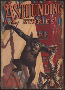 Astounding Stories 1932 January. Gorilla cover.   Pulp