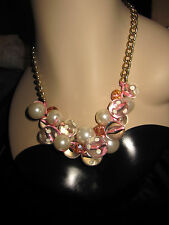 BETSEY JOHNSON FROM THE  WHITE LACE SKULL COLLECTION POLKA DOT BALLS NECKLACE