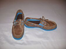 a84a812bb89 NWOB SPERRY TOP- SIDER A O Gore Brown   Blue Boat Shoes   Size