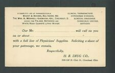 Ca 1898 Cleveland OH Salesmans Calling Card For Sharp & Dohme Merrell Chemical--