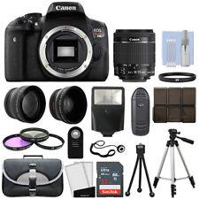 Canon T6i / 750D Digital SLR Camera + 3 Lens Kit 18-55mm STM Lens + 32GB Bundle