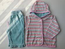 BABY MAC INFANT GIRL SOFT VELOUR JACKET + PANTS SIZE 00 Fits 3-6 mths LIKE NEW
