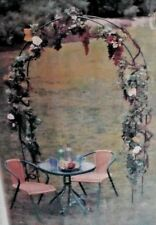 7 Ft White Metal Garden Arch for Wedding Party Bridal Prom Floral Decoration