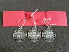 "3 Thompson ""Chipper's First Christmas"" Solid Pewter Ornaments"