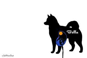 Alaskan Malamute - Custom Name Dog Leash Holder - Wall Hook
