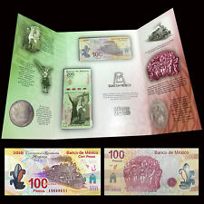 Mexico SET 2 PCS, 100 200 Pesos, 2010, P-128 129, In folder, lot, COMM., UNC