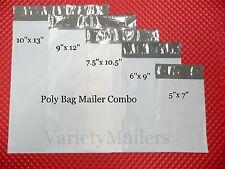 50 POLY BAG POSTAL MAILING ENVELOPE VARIETY PACK ~ 5 SIZES ~ SELF SEALING