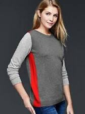NWT Gap Colorblock Brooklyn Sweater, Grey Heather/Red, Sz M