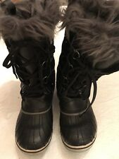 Girls Size 4 Black Sorel Boots
