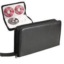 Portable 80 Disc Capacity CD VCD DVD Album Wallet Case Storage Bag Holder Box