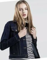Levis Trucker Denim Women's Jacket Original Indigo Navy Blue Even Rinse  Lg BNWT