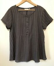 Habitat Clothes To Live In Women's Blouse Short Sleeve Size Large