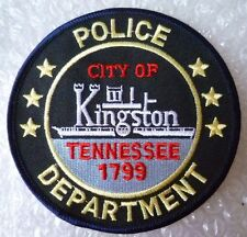 Patch- City of Kingston Tennessee 1799 US Police Department Patch (NEW*)