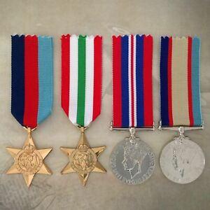 1939-45 STAR, ITALY STAR, 1939-45 WAR MEDAL+ 1939-45 ASM MEDAL SET