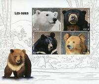 Wild Animals Stamps 2019 MNH Bears Sun Black Polar Bear Fauna 4v M/S