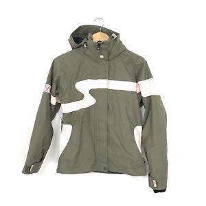 Roxy Quicksilver Women's XS Snowboard Ski Snow Jacket Coat Olive Green Pink B8