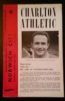Charlton Athletic v Norwich City Programme 26/08/61