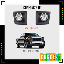 For 2014 2015 GMC Sierra 1500 Fog Lights with Chrome Ring L&R Side