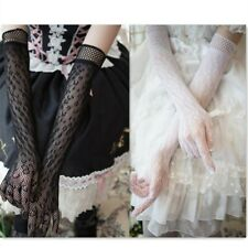 Gothic Lady Lolita Lace Gloves Party Prom Wedding Bride Mittens Long Elbow