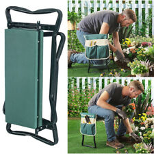 Folding Garden Kneeler Kneeling Bench Stool Soft Cushion Seat EVA Pad+Tool Pouch