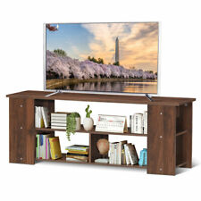 "TV Stand Entertainment Media Center Console Shelf Cabinet for TV's 50"" Brown"