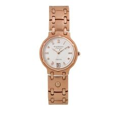 Krug Baumen Charleston Rose Gold Watch Featuring 4x Real Diamonds in Face