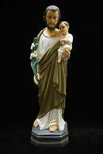 "16"" Saint Joseph Baby Jesus Holy Child Italian Catholic Statue Made in Italy"