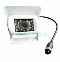 White 4Pin 12V-24V Bus Trailer CCD IR Night Vision Car Rear ViewReverse Camera
